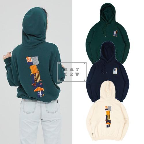 [ROMANTICCROWN] 21C BOYS FLAG HOOD 3COLOR