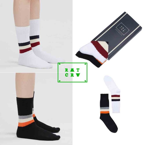 [ROMANTICCROWN] 21C BOYS STRIPE SOCKS MIX