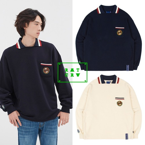 [ROMANTICCROWN] 21C BOYS COLLAR CREWNECK 2COLOR