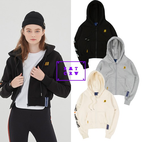 [ROMANTICCROWN WOMAN] GNAC HOOD ZIP UP 3COLOR