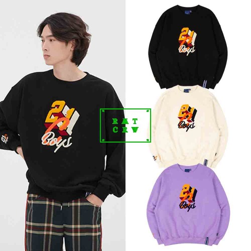 [ROMANTICCROWN] COLOR LOGO SWEATSHIRT 3COLOR