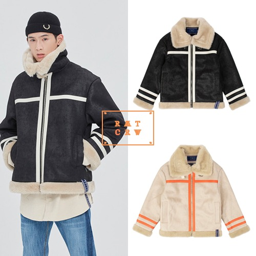 [ROMANTICCROWN] COLD WAVE MOUTON JACKET 2COLOR