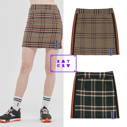 [ROMANTICCROWN WOMAN] OLD CHECK SKIRT 2COLOR