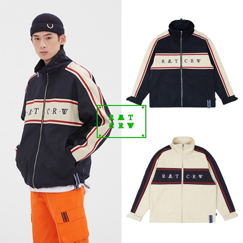 [ROMANTICCROWN] 21C BOYS RACING JACKET 2COLOR