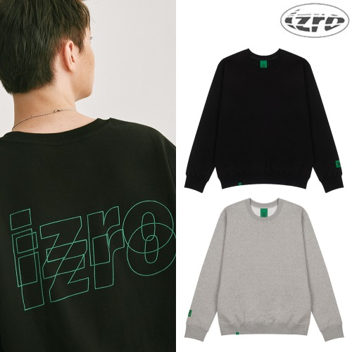 [IZRO] DOUBLE LOGO SWEAT SHIRTS 2COLOR
