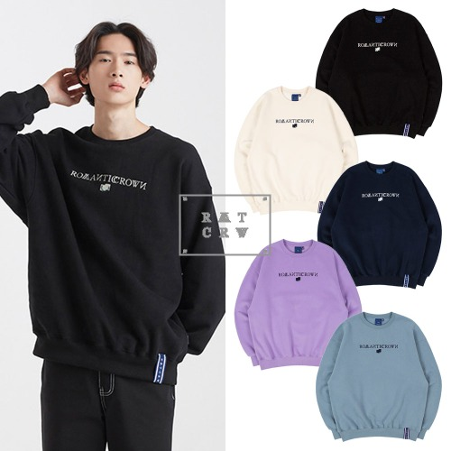 [ROMANTICCROWN] ROMANTICCROWN LOGO SWEATSHIRT 5COLOR
