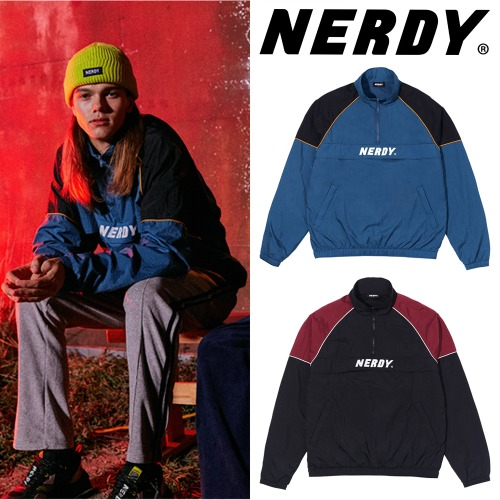 [NERDY] BASIC LOGO ANORAK JACKET 3COLOR