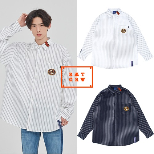 [ROMANTICCROWN] 21C BOYS STRIPED SHIRT 2COLOR