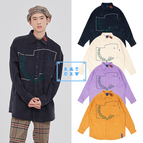 [ROMANTICCROWN] CORDUROY WIDE SHIRT 4COLOR