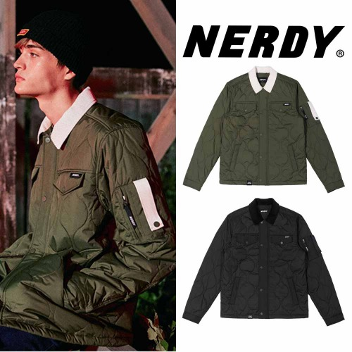 [NERDY] QUILTED JACKET 2COLOR