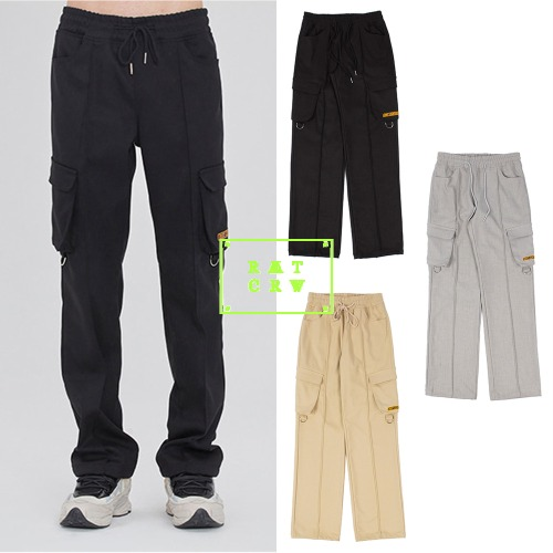 [ROMANTICCROWN] PIN TUCK POCKET PANTS 3COLOR