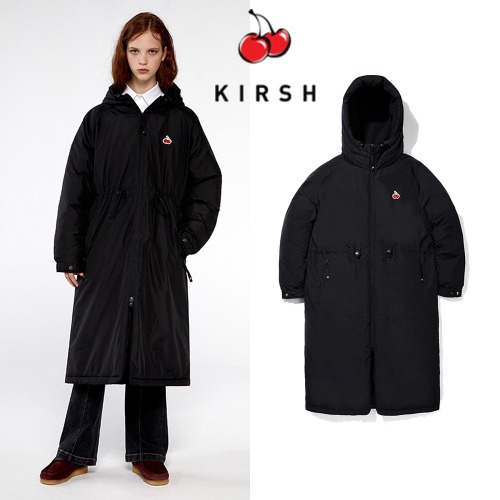 [KIRSH] SMALL CHERRY LONG PADDING IA BLACK