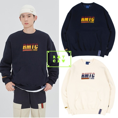 [ROMANTICCROWN] RMTC LOGO POCKET SWEATSHIRT 2COLOR