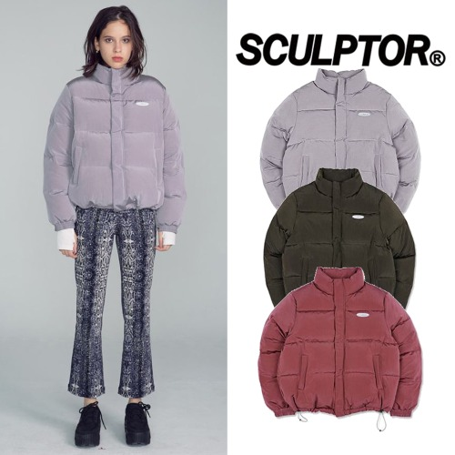 [SCULPTOR] SHORT REVERSIBLE PUFFER DOWN 3COLOR