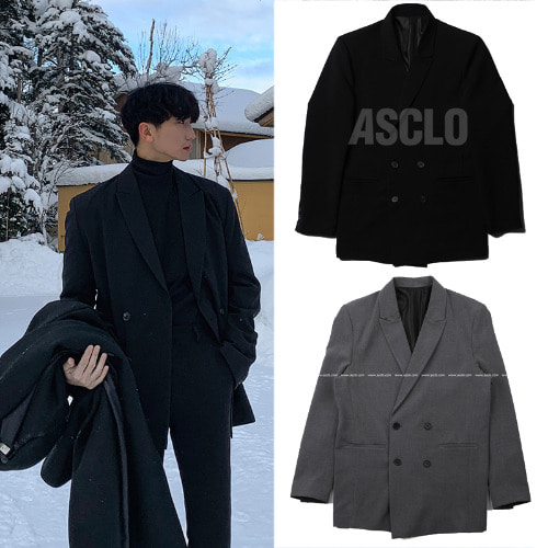 [ASCLO] LOOSE FIT BLAZER 2COLOR