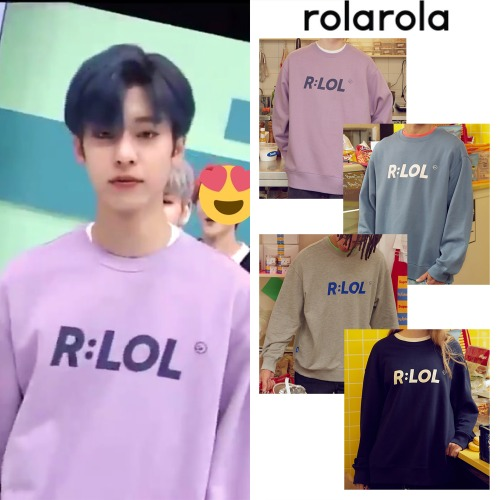 [ROLAROLA] RLOL BASIC SWEATSHIRT 4COLOR_AB6IX