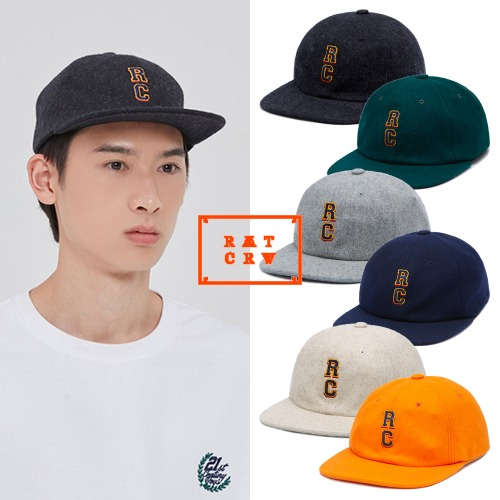 [ROMANTICCROWN] RC LOGO WOOL BALL CAP 6COLOR