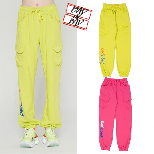 [BADINBAD] NEON POCKET SWEATPANTS 2COLOR