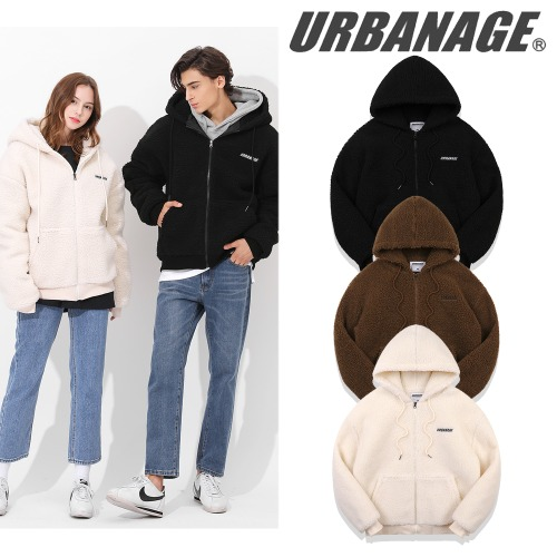 [URBANAGE] HEAVY BOA OVER HOOD ZIP-UP 3COLOR