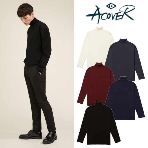 [ACOVER] BASIC TURTLE NECK KNIT 5COLOR