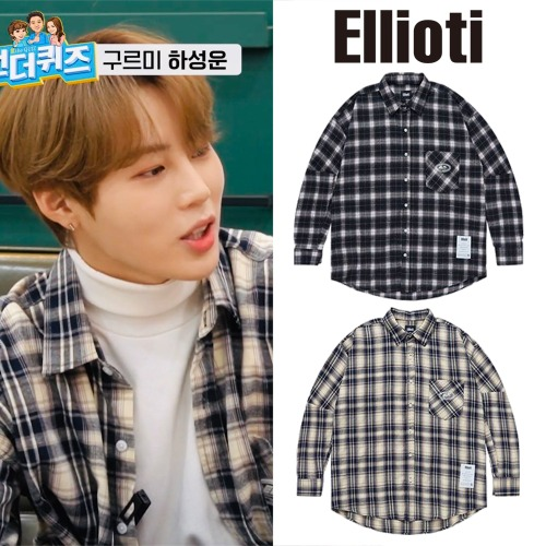 [ELLIOTI] CLEARRAVEL CHECKSHIRT 2COLOR_WANNAONE
