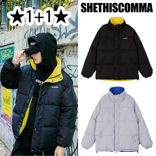 [SHETHISCOMMA] STC REVERSIBLE PARKA 2COLOR 1+1
