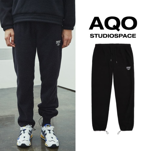 [AQOSTUDIO] AQOXTETRIS FLEECE PANTS BLACK