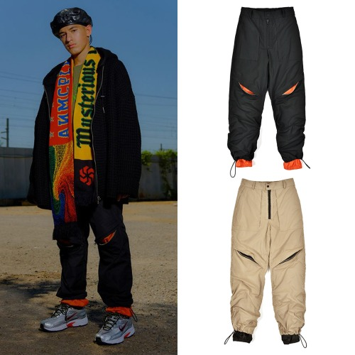 [ANOMIECOMPLEX] LAYERED SEMI WIDE JOGGER PANTS 2COLOR