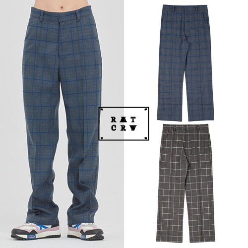 [ROMANTICCROWN] FRIDAY CHECK DRESS PANTS 2COLOR