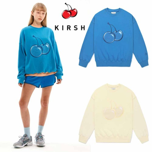 [KIRSH] TONE ON TONE BIG CHERRY SWEATSHIRT JS 2COLOR