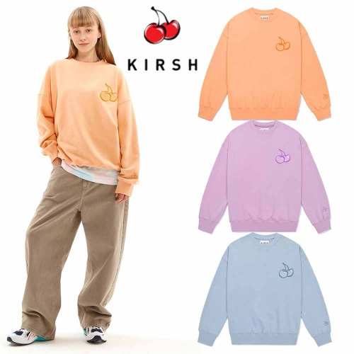 [KIRSH] TONE ON TONE MIDDLE CHERRY SWEATSHIRT JS 3COLOR