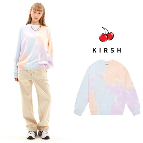 [KIRSH] MIDDLE CHERRY TIE DYEING SWEATSHIRT JS PURPLE