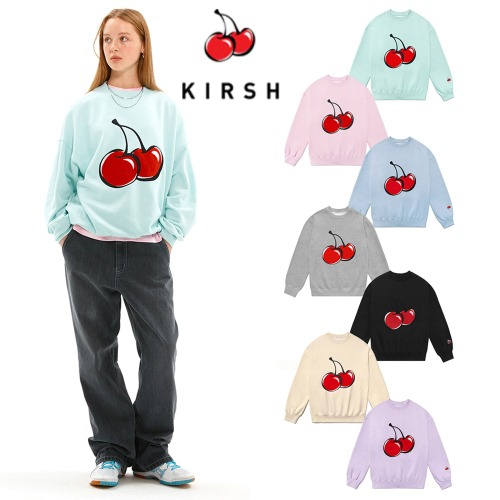 [KIRSH] BIG CHERRY SWEATSHIRT JS 7COLOR