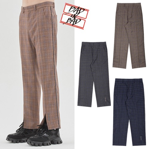 [BADINBAD] CANABY STREET CHECK PANTS 3COLOR