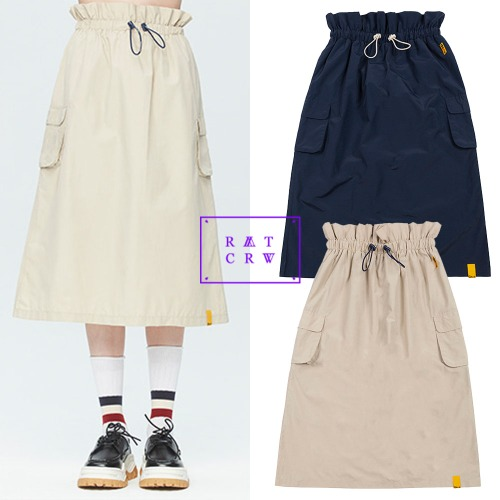 [ROMANTICCROWN WOMAN] GNAC EASY BANDING SKIRT 2COLOR
