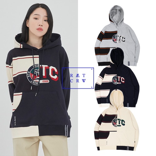 [ROMANTICCROWN] HALF TWIN HOODIE 3COLOR