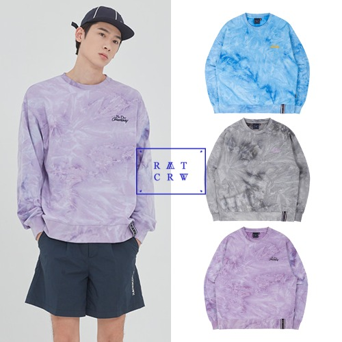 [ROMANTICCROWN] TIE DYE LOGO SWEAT SHIRT 3COLOR