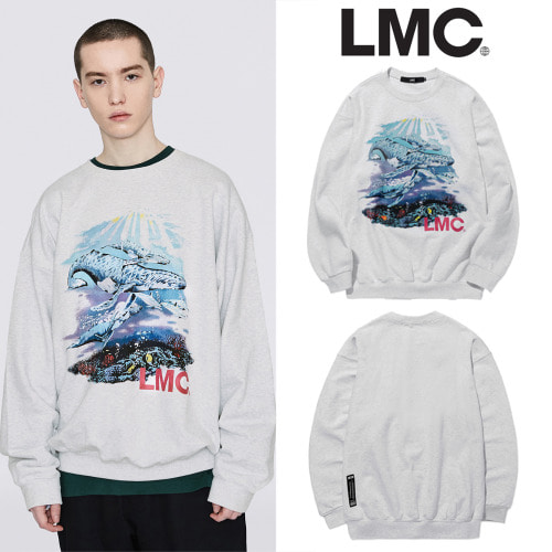 [LMC] LMC SEAWORLD OVERSIZED SWEATSHIRT LT.HEATHERGRAY