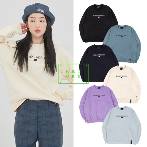 [ROMANTICCROWN] ROMANTICCROWN LOGO SWEATSHIRT 6COLOR