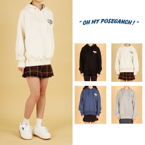 [POSEGANCH]OH MY POSEGANCH LOGO HOODIE 4COLOR