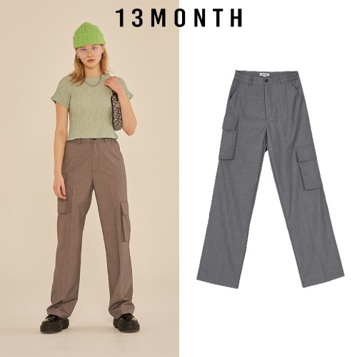 [13MONTH] TWO POCKET CARGO BANDING PANTS