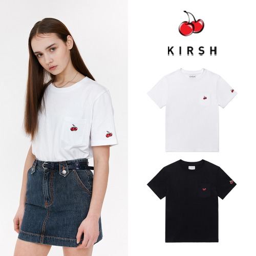 [KIRSH] POCKET CHERRY T-SHIRT JH 2COLOR