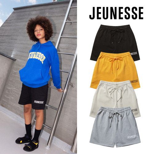 [JEUNESSE] JEUNESSE LOGO SWEAT SHORTS 4COLOR