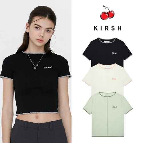 [KIRSH] KIRSH COLOR STITCH T-SHIRT JH 3COLOR
