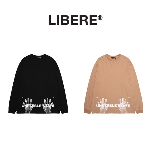 [LIBERE] X-RAY LONGSLEEVE SHIRTS 2COLOR