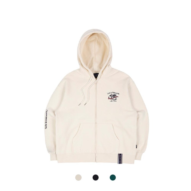 [RMTC] LIFE IS ROMANTIC HOODIE ZIP UP 3COLOR