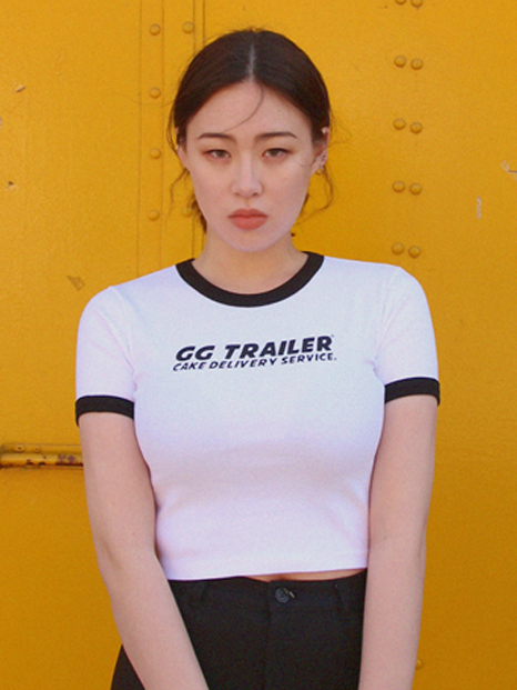 GG Trailer Crop Top_White