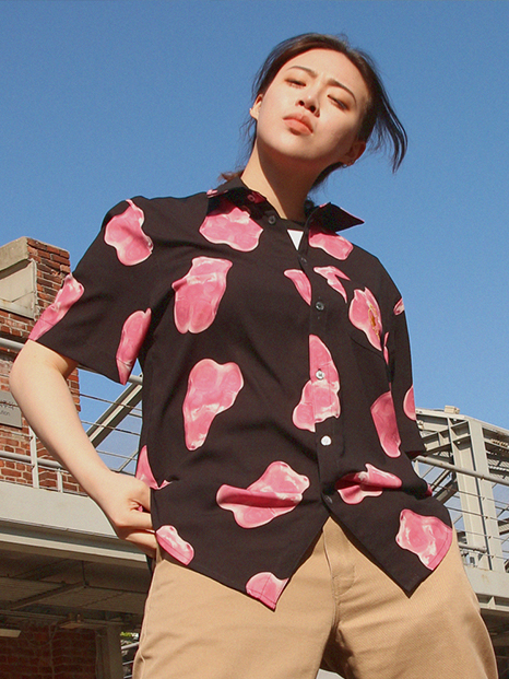 Grape Gummy Hawaiian Shirts_Black