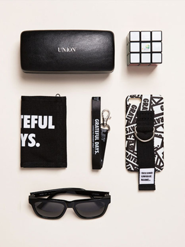 SUN X UNIONOBJET PATTERN CASE UNION BLACK
