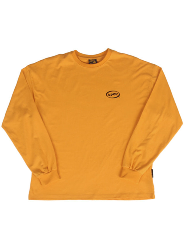 [A PIECE OF CAKE]Oval Logo Longsleeved T-shirts_Yellow